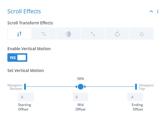 how to use the Divi scroll effects