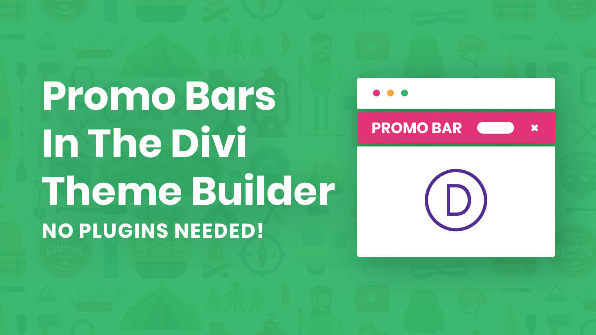 How To Add A Promo Bar In Divi (Without Plugins)