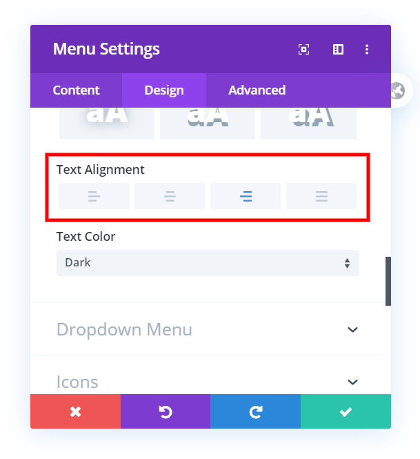 How To Align The Divi Theme Builder Menu Module To The Right, Left, or Center On Any Device