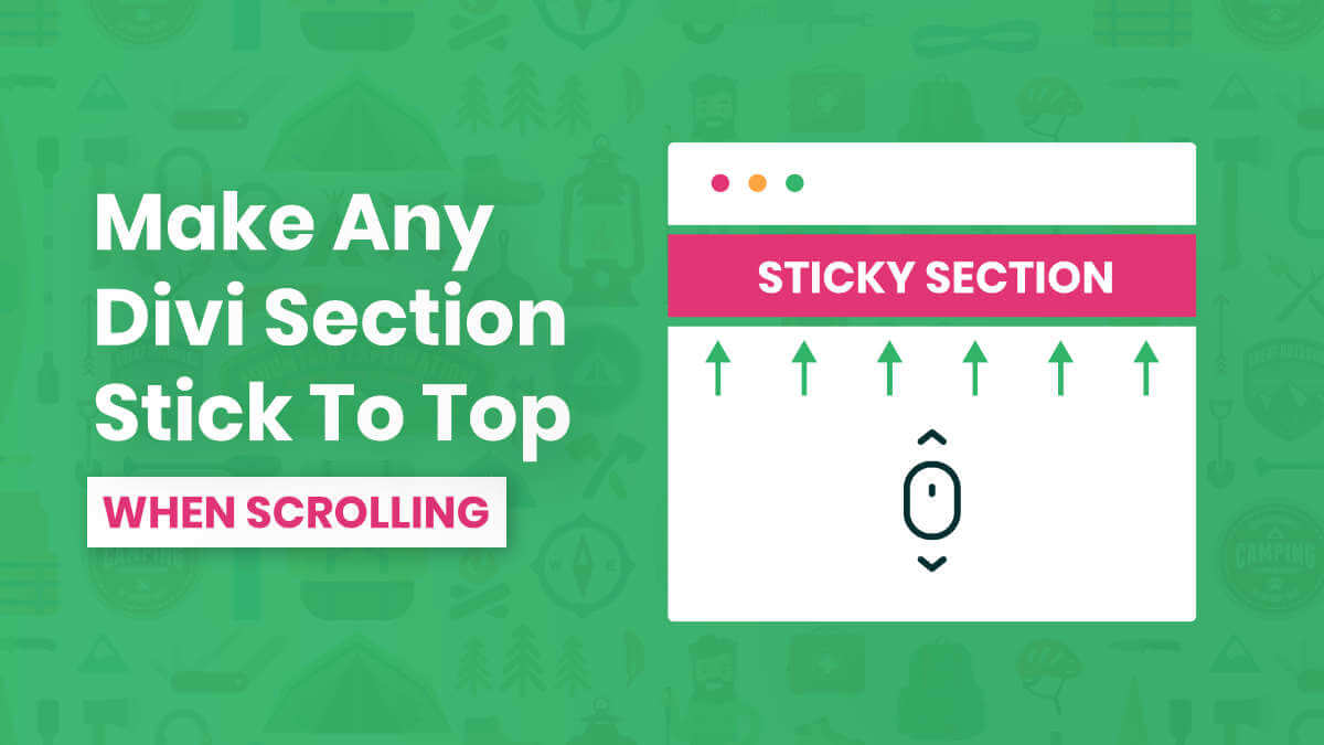 How To Make Any Divi Section Stick To The Top When Scrolling Tutorial by Pee Aye Creative