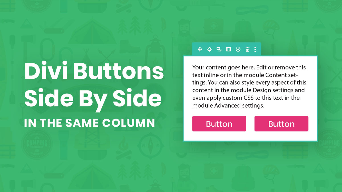 How To Place Two Divi Buttons Side By Side In The Same Column