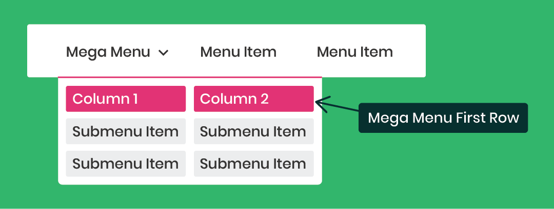 How To style the first row of the Divi Mega menu