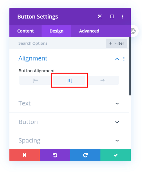 make divi buttons fullwidth and centered