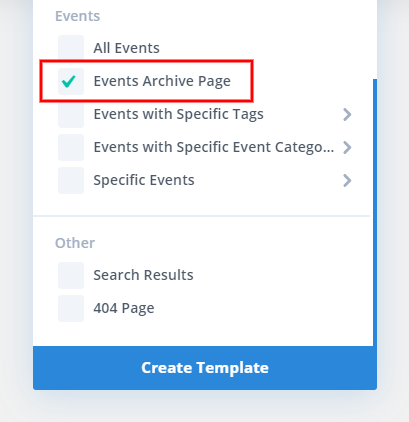 Create an events archive page in the Divi Theme Builder