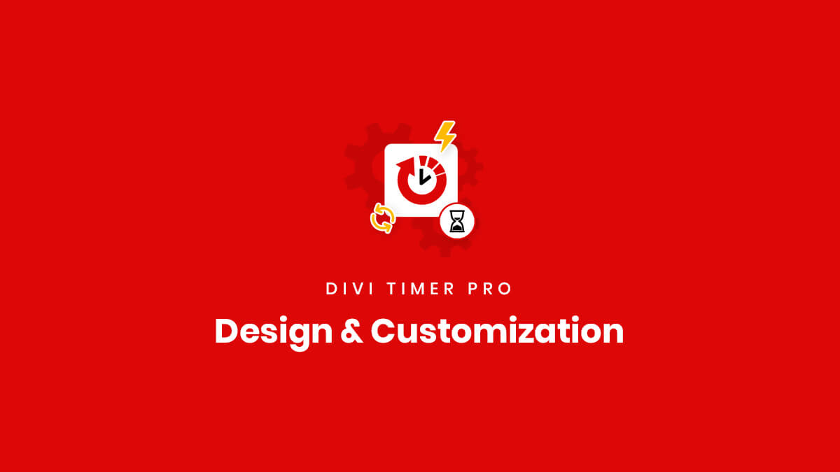 Design and customization settings for the Divi Timer Pro Plugin by Pee Aye Creative