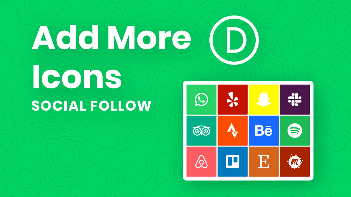 How To Add More Icons To The Divi Social Follow Module Tutorial by Pee Aye Creative