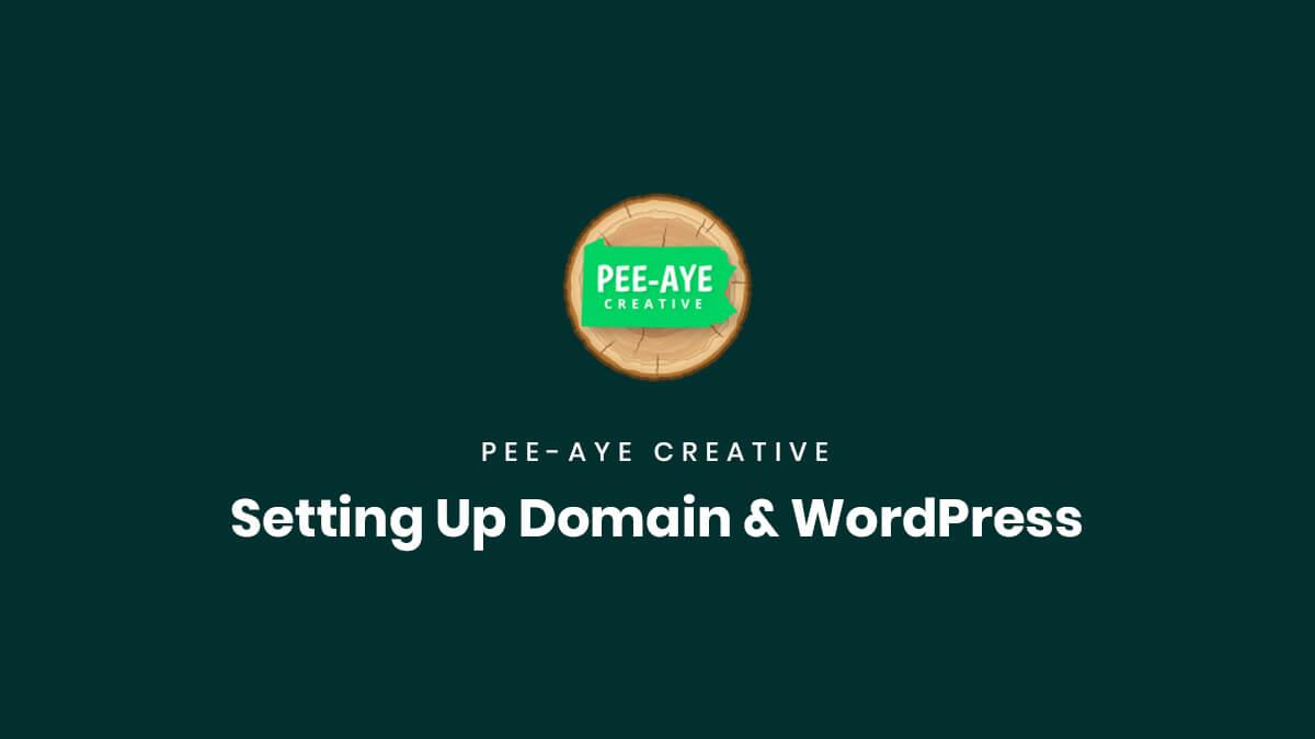 How To Set Up Domain Name WordPress by Pee Aye Creative