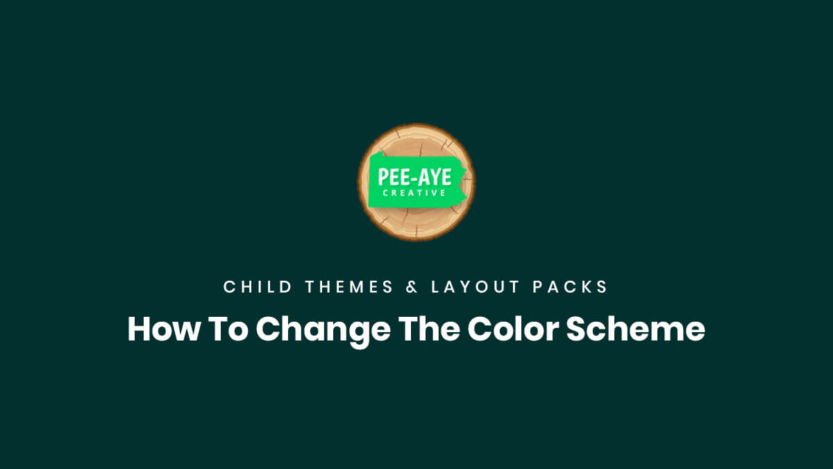 How To Change The Color Scheme