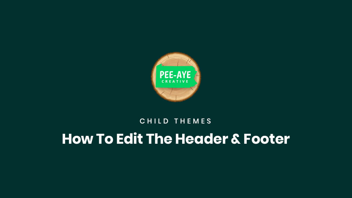 How To Edit The Header & Footer