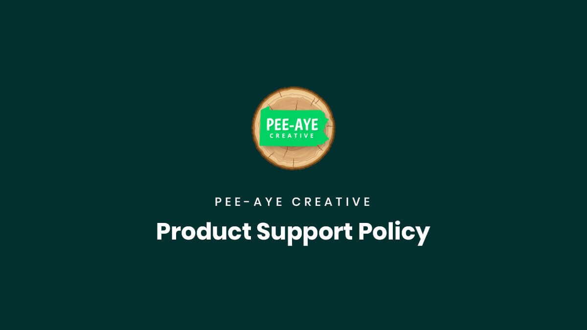 Product Support Policy