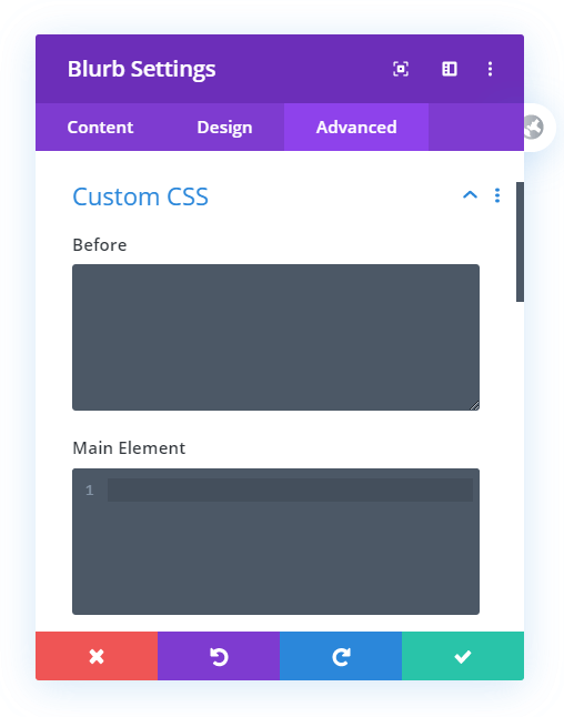 add custom css to Divi module Custom CSS area