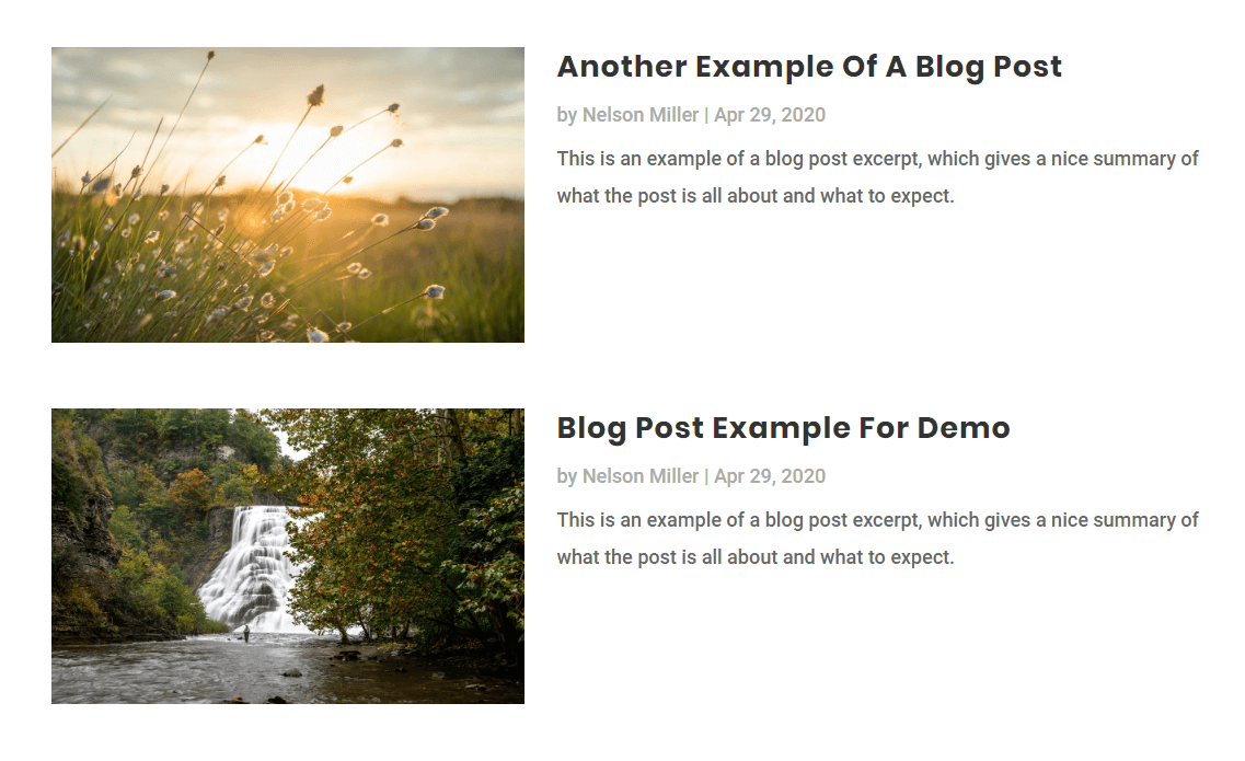 customize the Divi blog module styling