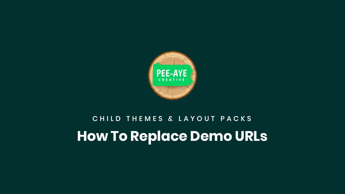 how to replace Divi child theme or layout pack demo urls