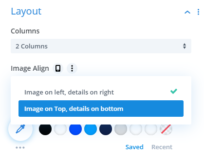 new layout options in the Divi Events Calendar module