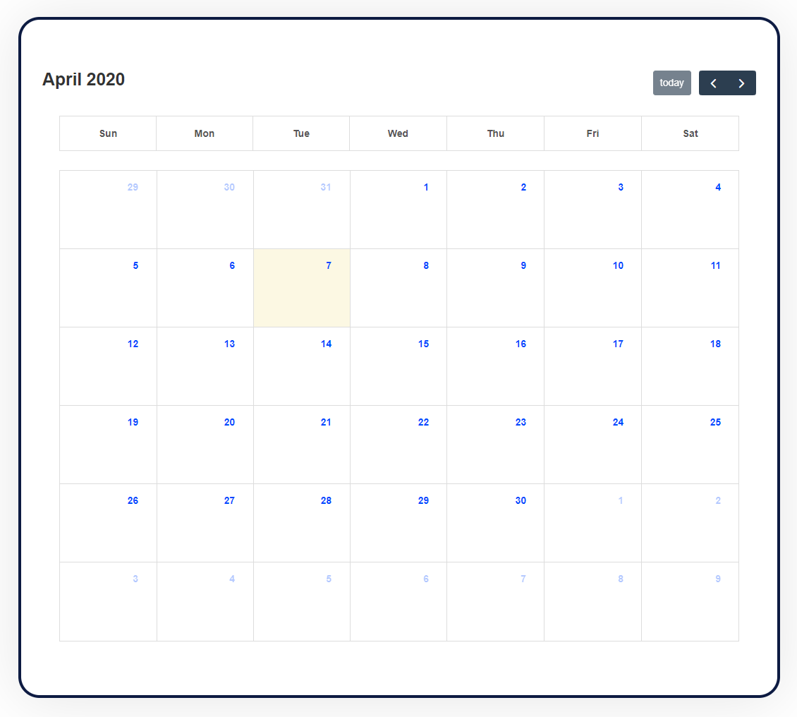 new module month view feature update for the Divi events calendar module
