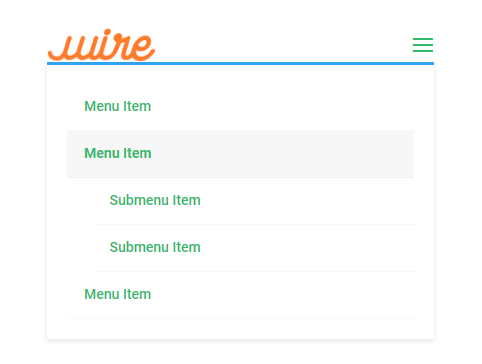 the mobile menu with the Menu module in the Theme Builder default styles