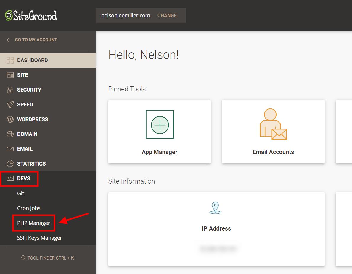 remove display errors in Siteground