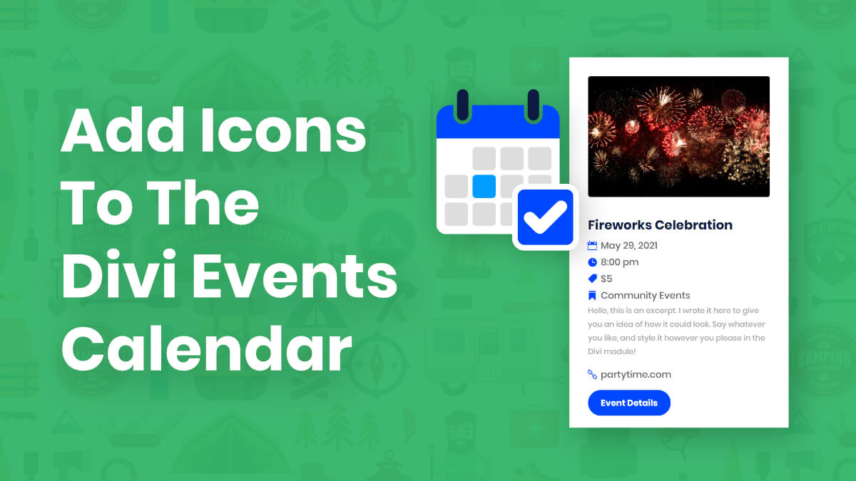 How To Add Icons To The Divi Events Calendar