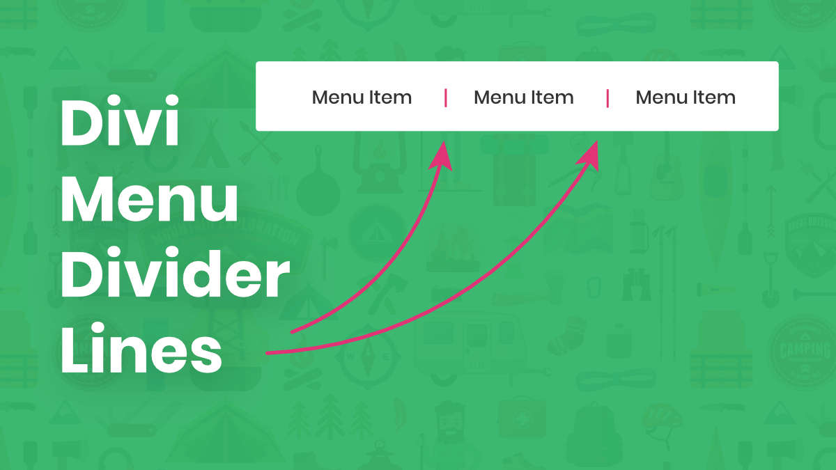 How To Add Vertical Divider Lines Between Menu Items In Divi