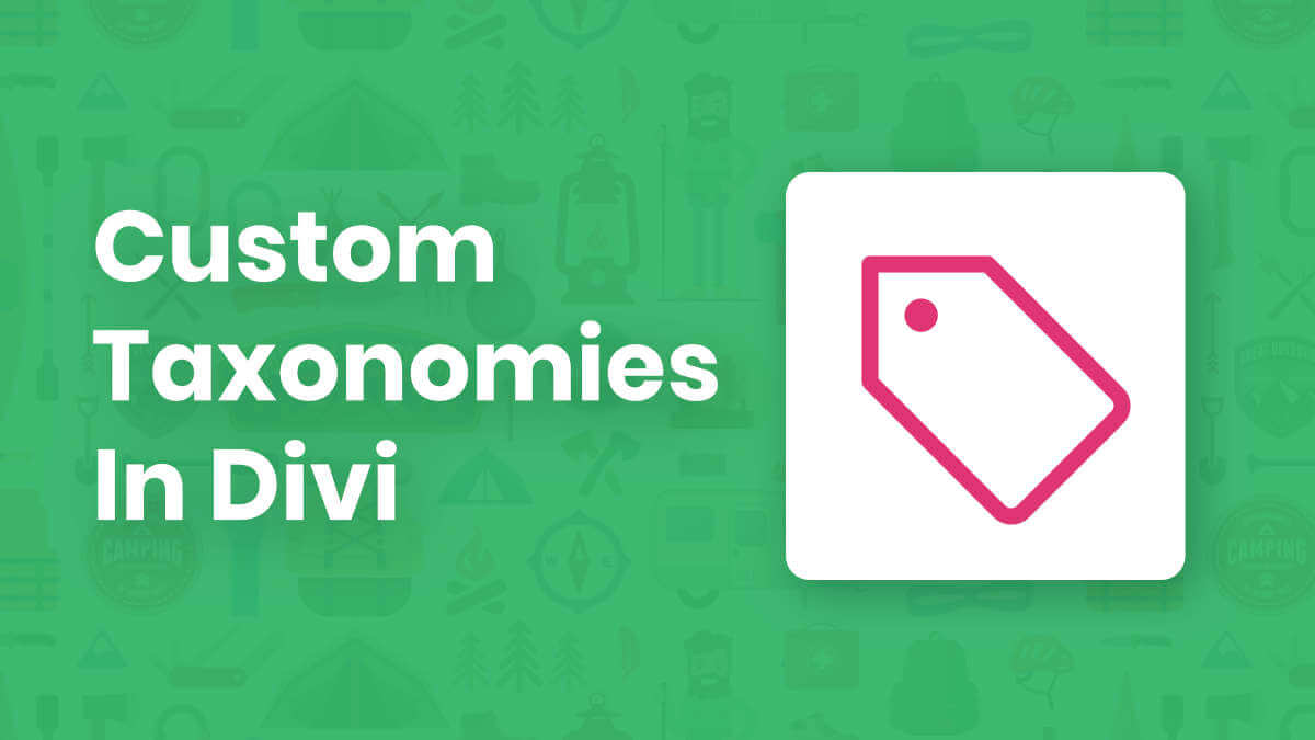How To Create And Use Custom Taxonomies In Divi