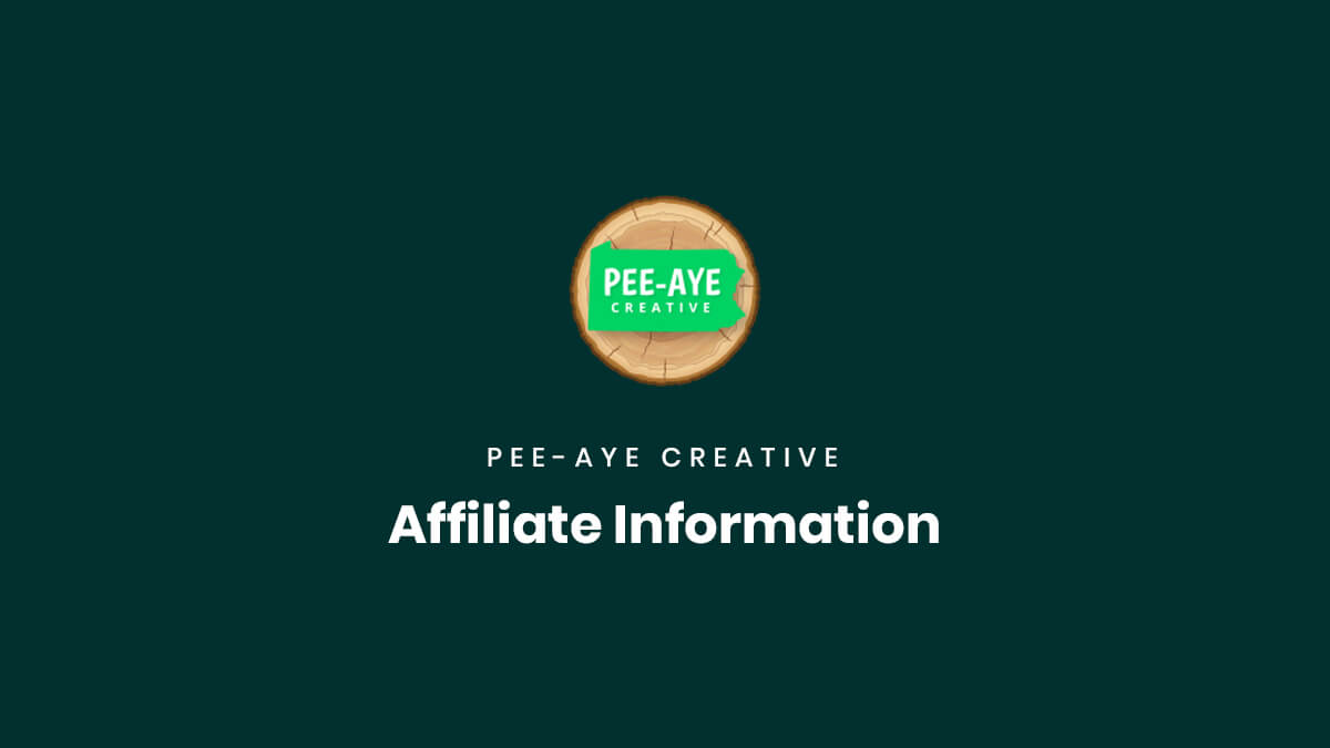 Affiliate Signup and Login Information by Pee Aye Creative