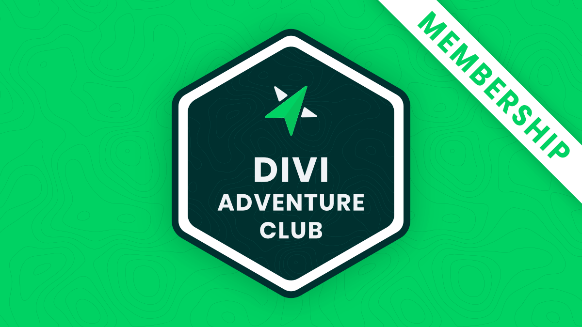 Divi Adventure Club Product And Course Membership by Pee Aye Creative