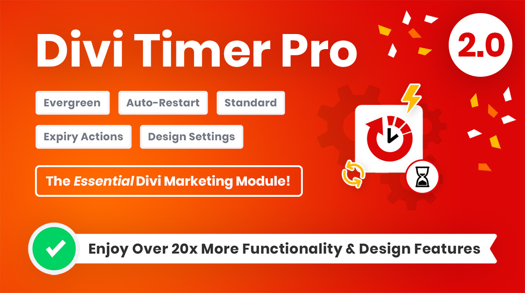 Divi Timer Pro Countdown Module by Pee Aye Creative