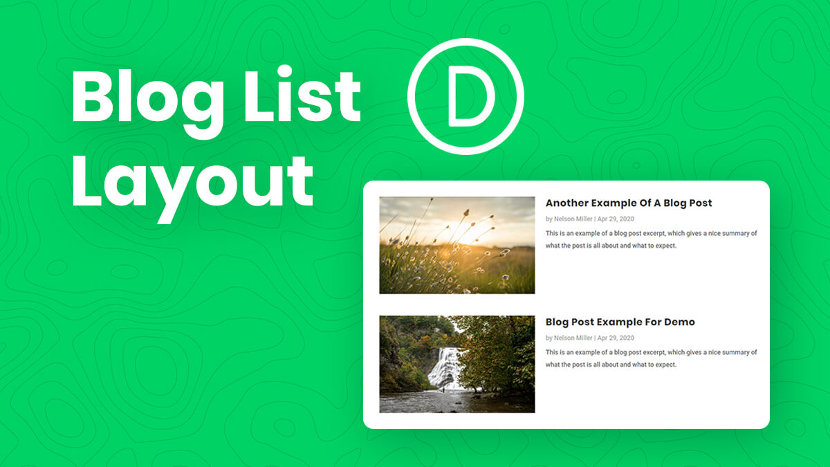 How To Change The Divi Blog Module Into A List Layout