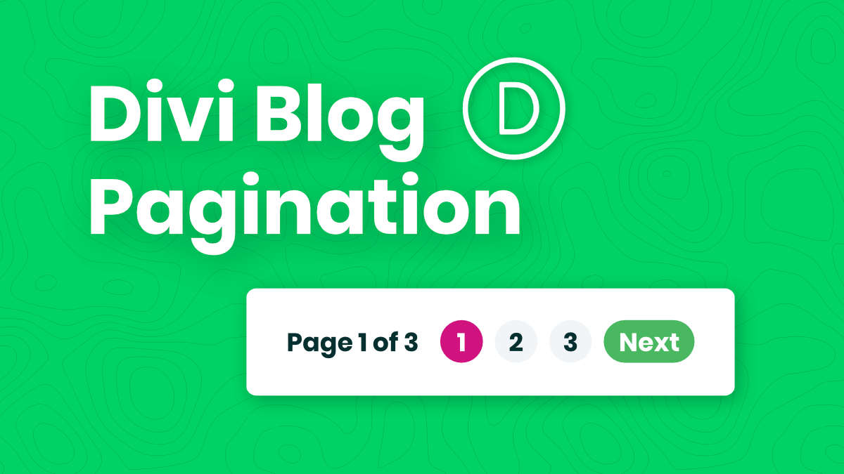 How To Style And Customize The Divi Blog Pagination