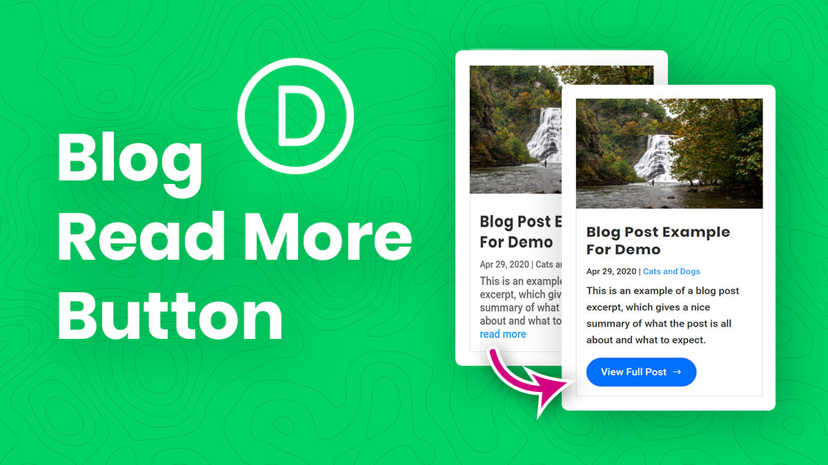How To Style Customize and Change The Divi Blog Read More Button Tutorial by Pee Aye Creative
