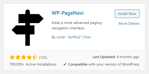 Add pagination to the Divi blog with the WP PageNavi plugin