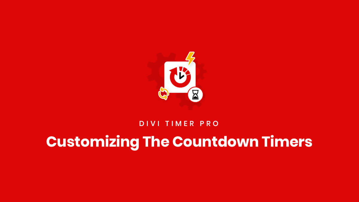Customizing The Countdown Timers for the Divi Timer Pro Plugin by Pee Aye Creative