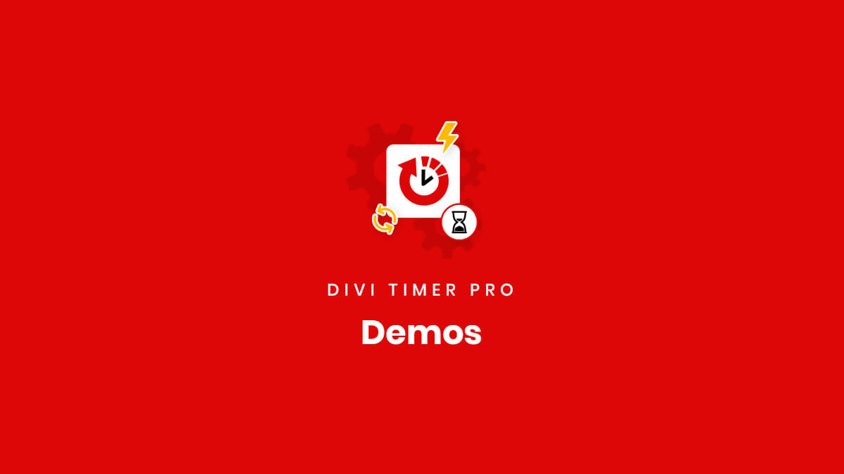 Demos of the Divi Timer Pro Plugin by Pee Aye Creative
