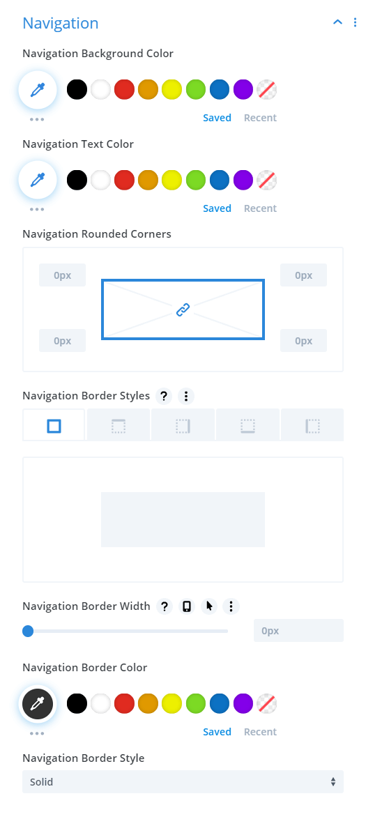 Divi Events Calendar Events Calendar Module Navigation Settings