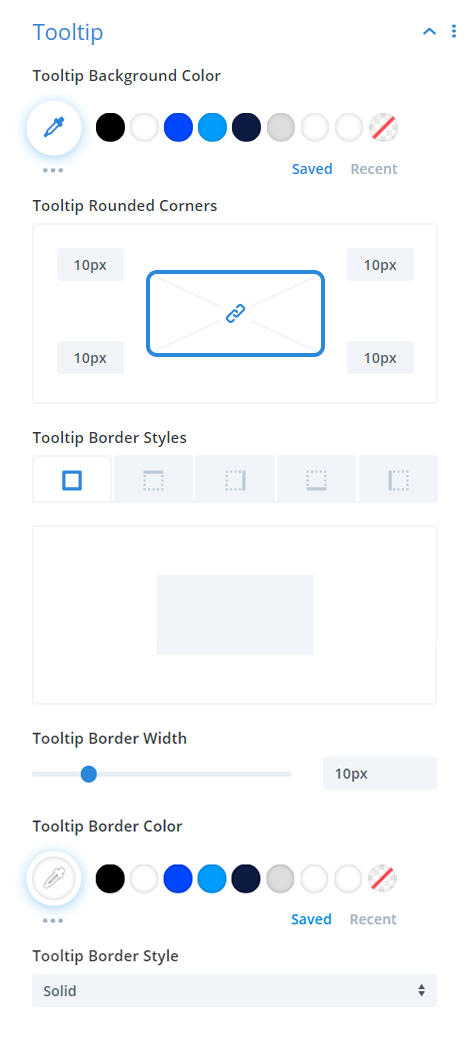 Divi Events Calendar Events Calendar Module Tooltip Settings