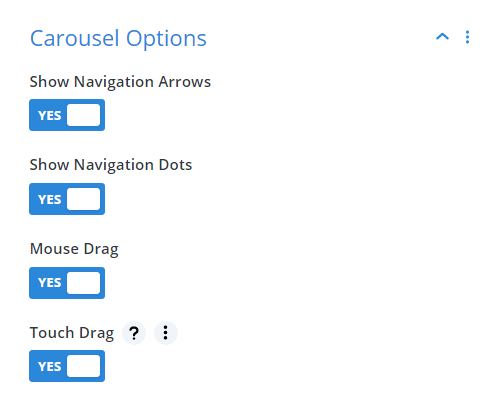 Divi Events Calendar Events Carouse Module Carousel Options Settings