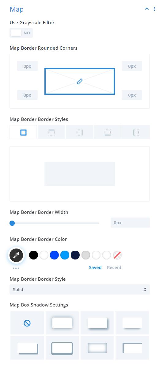 Divi Events Calendar Events Page Module Map Settings
