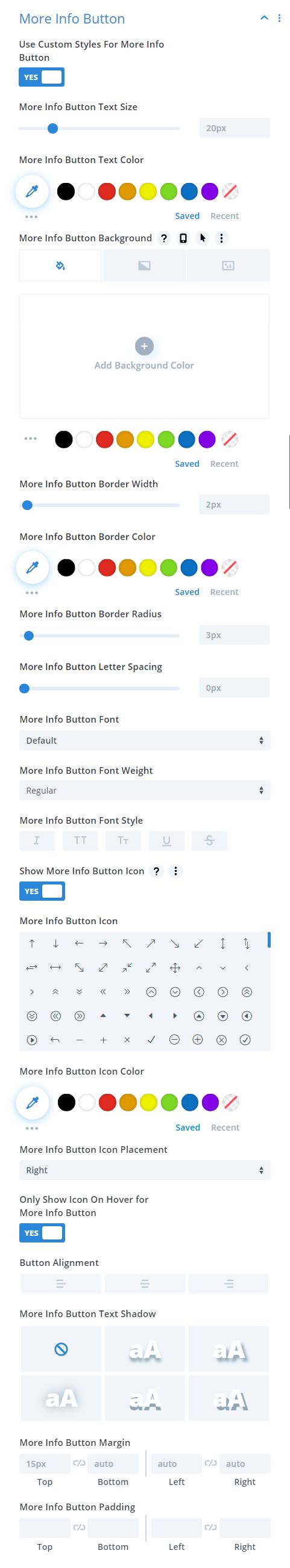 Divi Timer Pro module button design settings