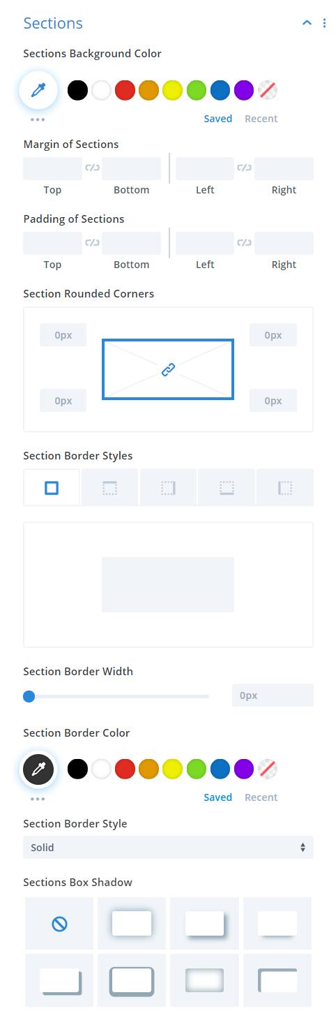 Divi Timer Pro module sections design settings