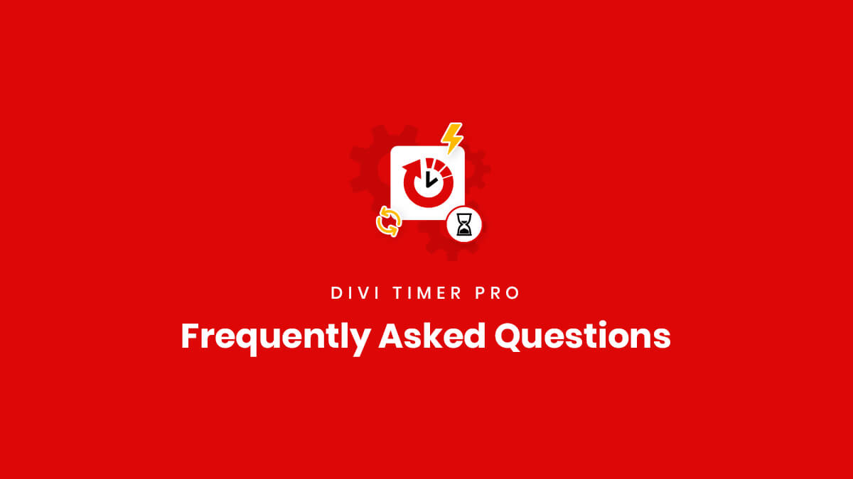 Frequently Asked Questions about the Divi Timer Pro Plugin by Pee Aye Creative