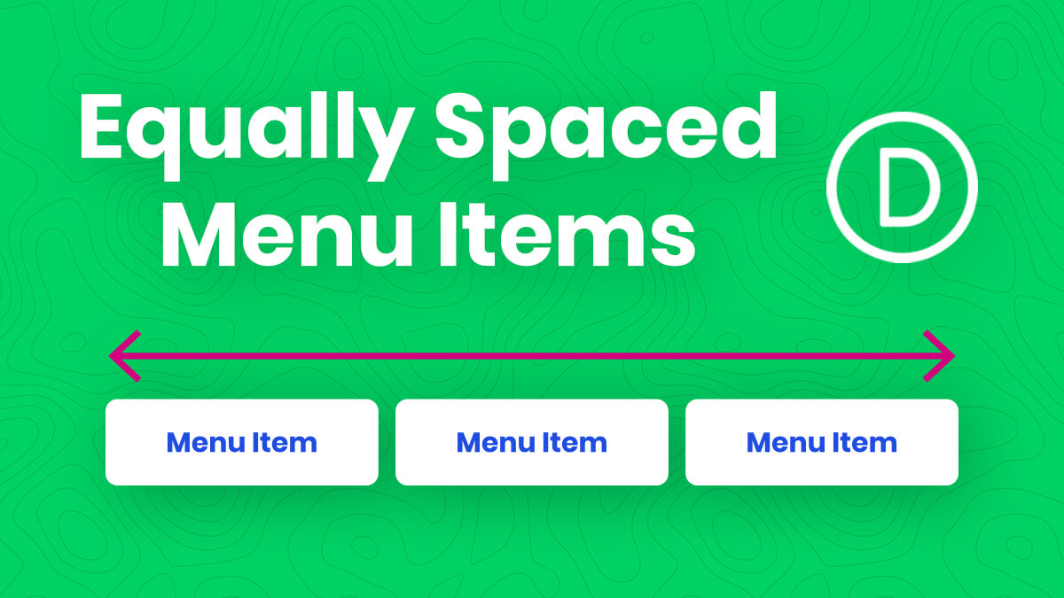 How To Equally Space The Width Of Divi Menu Module Links