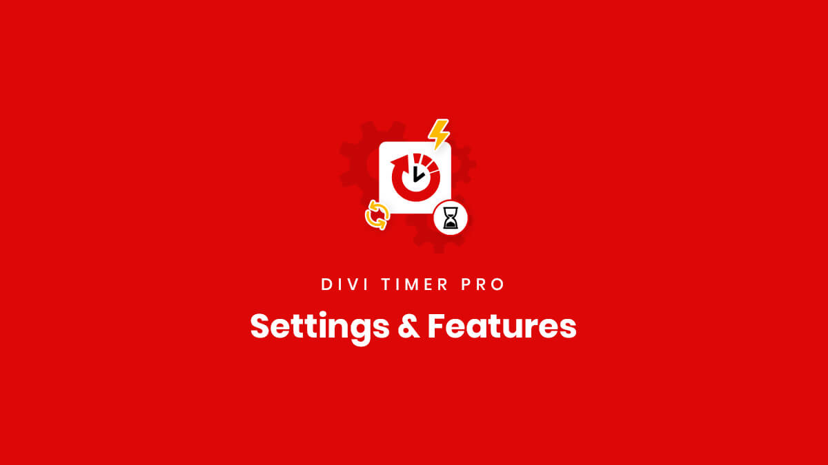 Module Settings and Features in the Divi Timer Pro Plugin by Pee Aye Creative