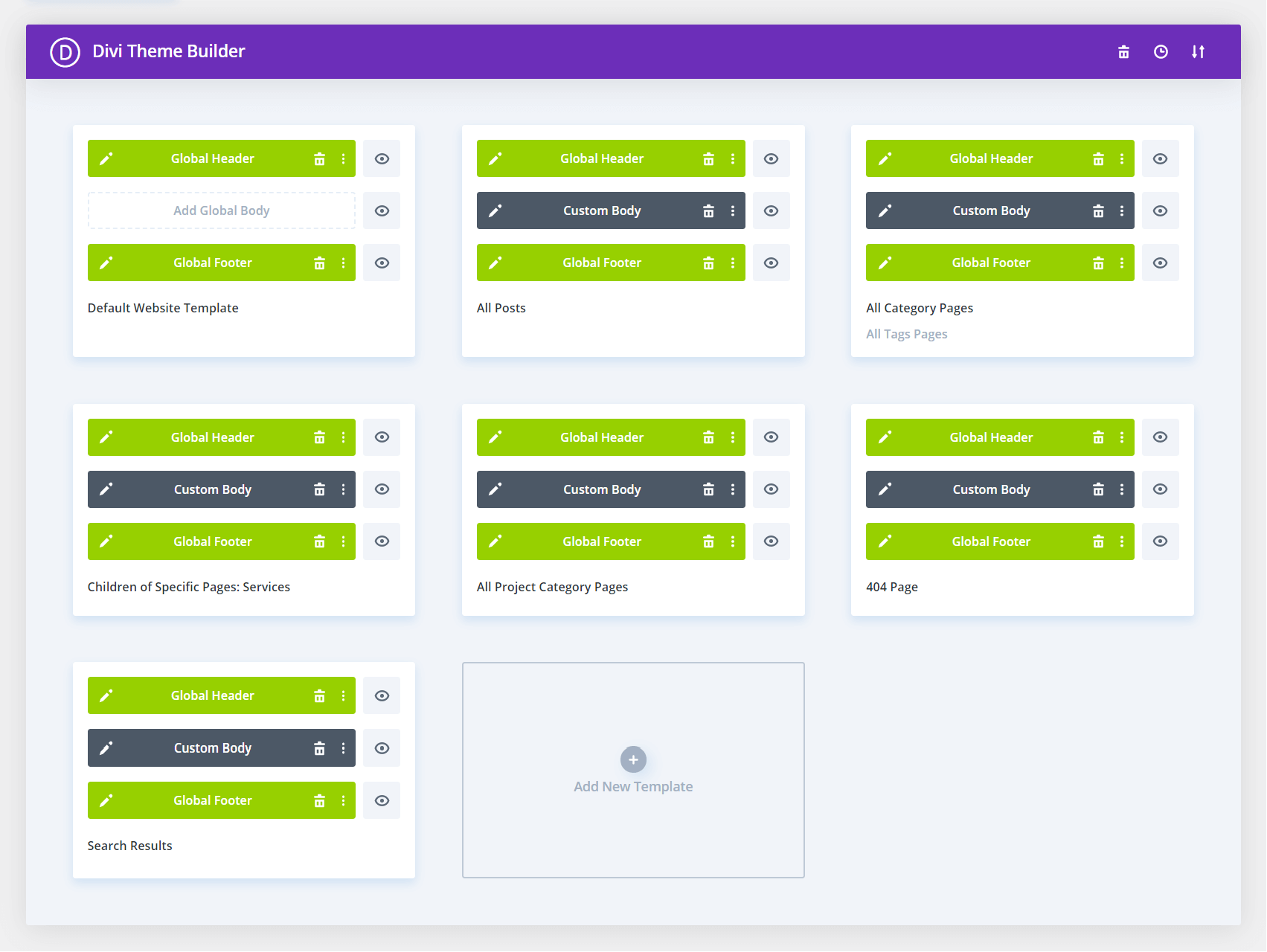 Contractor Child Themes Theme Builder Templates