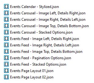 Divi Events Calendar Demo 1 Layouts File List