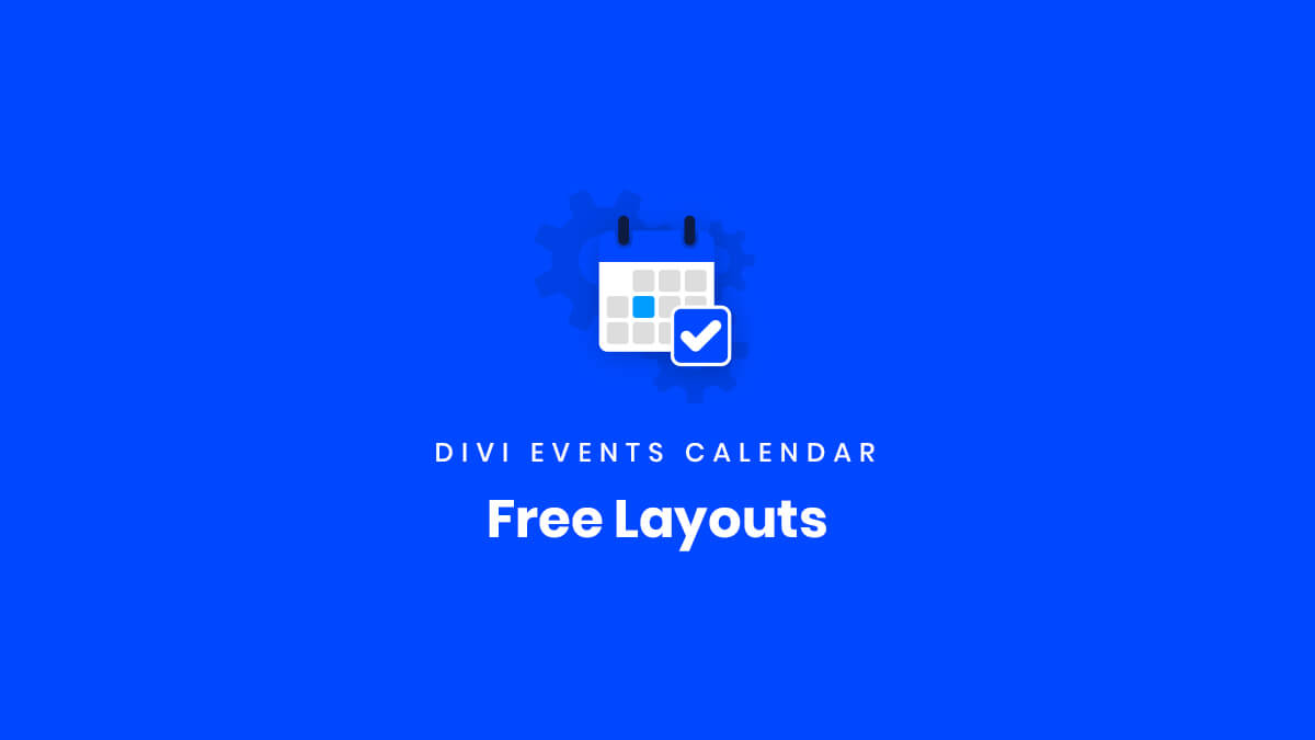 Free Layouts for the Divi Events Calendar Plugin by Pee Aye Creative