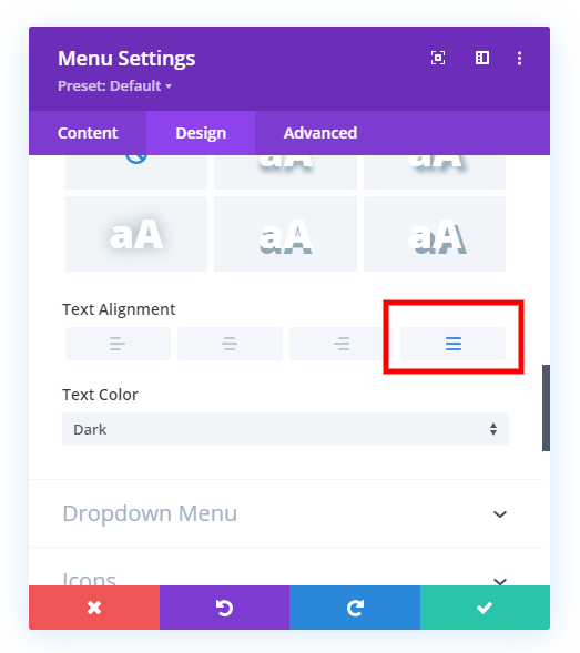 equally space Divi menu items