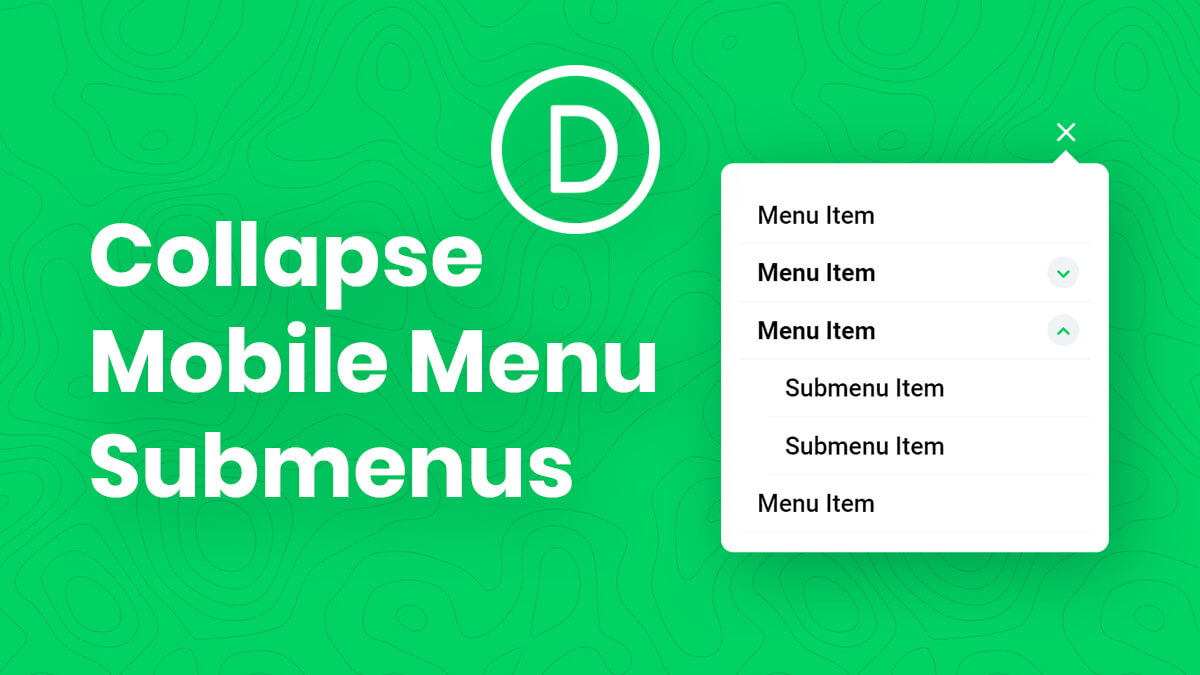 How To Collapse Divi Mobile Menu Submenus