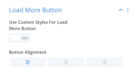 load more button settings