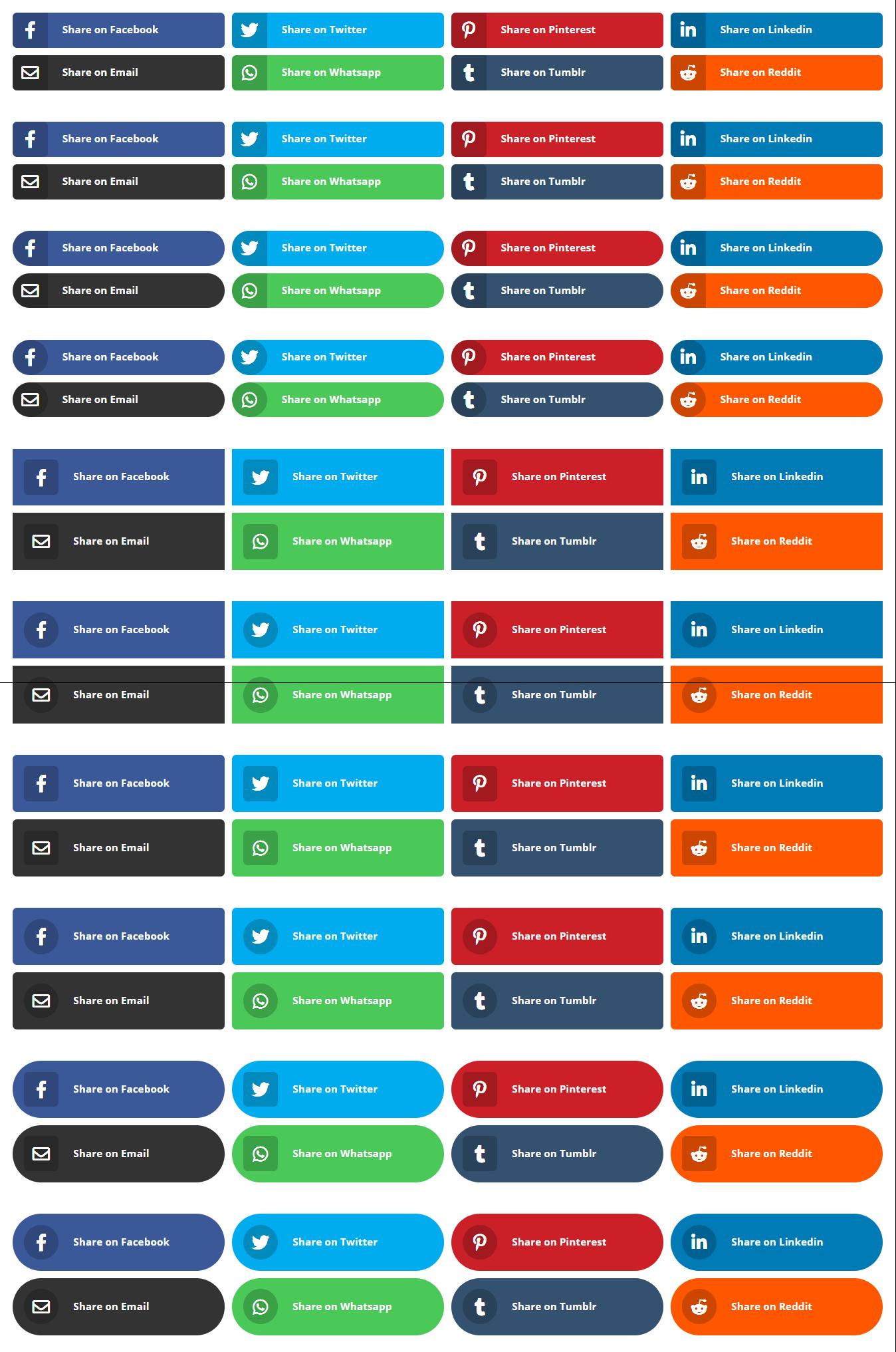 Divi Social Sharing Buttons Module Plugin by Pee Aye Creative 1