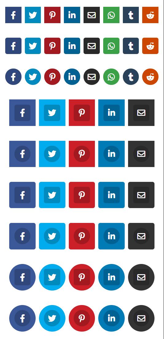 Divi Social Sharing Buttons Module Plugin by Pee Aye Creative 4